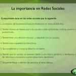 La importancia en redes sociales